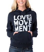 TWLOHA Love Is The Movement Navy Pullover Hoodie