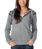Empyre Girls Denver Grey Raglan Pullover Hoodie
