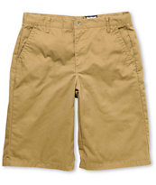 Free World Part Time Dark Khaki Chino Shorts