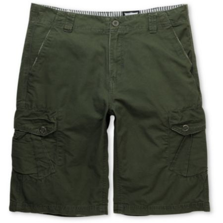 Free World Militant Olive Cargo Shorts