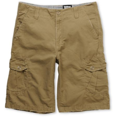 Free World Militant Khaki Cargo Shorts