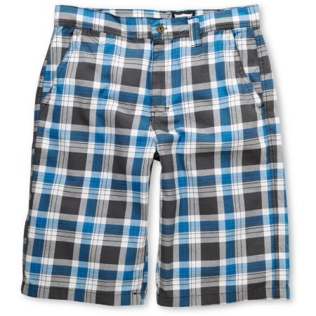 Free World B-Real Grey & Blue Plaid Shorts
