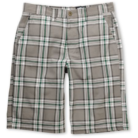 Free World Guru Grey Plaid Shorts