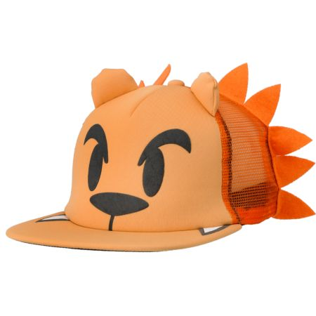 Neff Lion Orange Snapback Trucker Hat