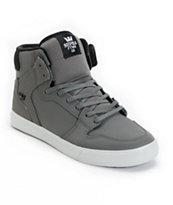 Supra Vaider Grey Satin & Neoprene TUF Shoe