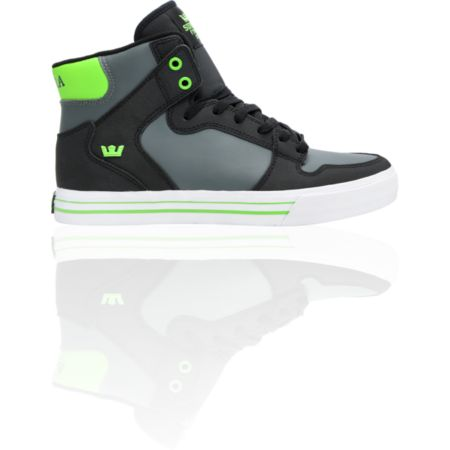 Supra Vaider TUF Black, Grey & Green Shoe