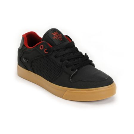 Supra Vaider Black, Red & Gum Raptor TUF Shoe