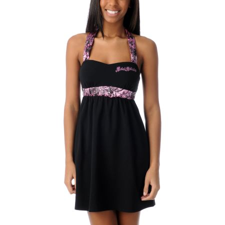 Metal Mulisha Kyra Black Halter Dress