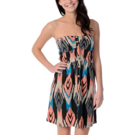 Volcom Farmers Daughter Santa Fe Print Dress