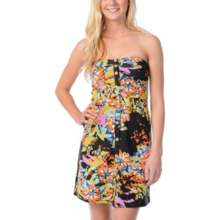 Volcom Farmers Daughter Floral Print Dress