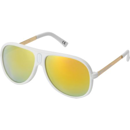 Neff Malibu White & Gold Polarized Sunglasses
