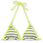 Gossip Double Dare Neon, Grey & White Triangle Bikini Top