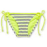 Gossip Double Dare Neon, Grey & White Tie Side Bikini Bottom
