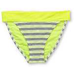 Gossip Double Dare Neon, Grey & White Fold Over Bikini Bottom