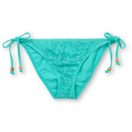 Reef Easy Breezy Crochet Turquoise Bikini Bottom