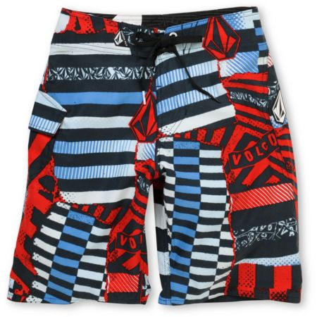 Volcom Boys Maguro Red Print Board Shorts