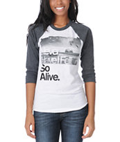 Glamour Kills Hunting To Feel Charcoal Baseball Tee Shirt