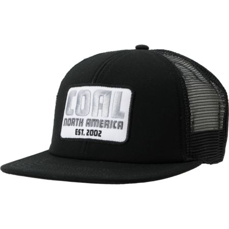 Coal Nelson Black Trucker Snapback Hat