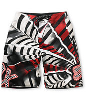 Fox Boys Shattered Red Board Shorts