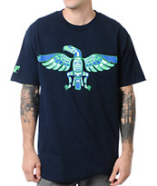 Cake Face Native Navy Blue Tee Shirt