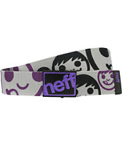 Neff Bounce Grey & Purple Scout Belt