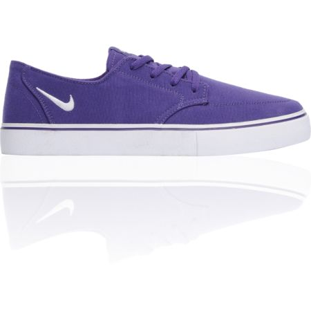 Nike 6.0 Braata LR Club Purple & White Canvas Skate Shoe