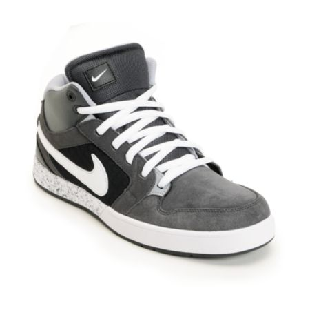Nike 6.0 Mogan Mid 3 Lunarlon Anthracite, Wolf Grey, & White Shoe