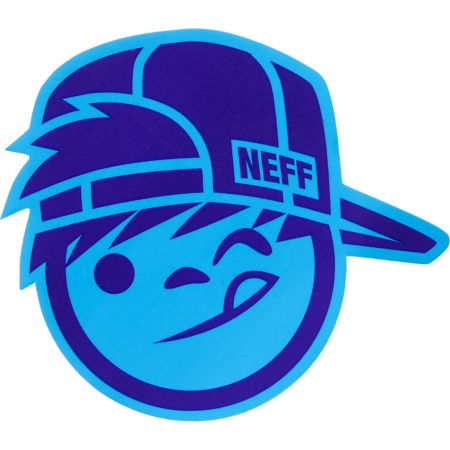Neff Suckerface Blue Sticker