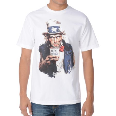Neff Waiting For Change White Tee Shirt