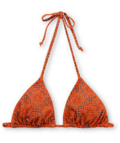Obey Venice Orange Spice Triangle Bikini Top