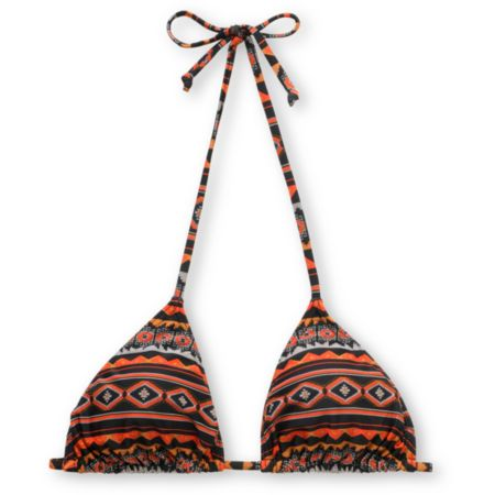 Obey Black Tribal Triangle Bikini Top