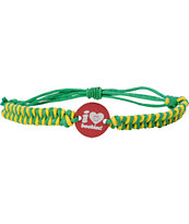 Keep A Breast Foundation Red, Green & Yellow Braided Bracelet