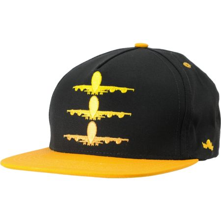 Fly Society Faded Yellow & Black Snapback Hat