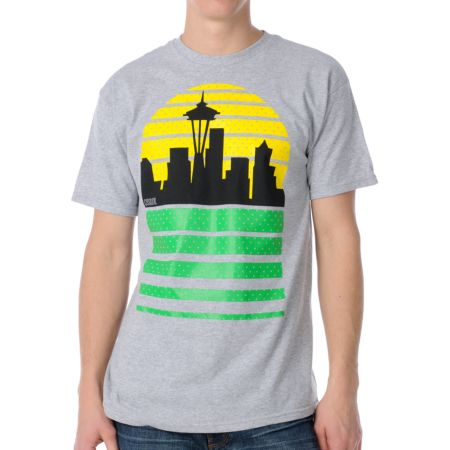 Casual Industrees Sea Skyline Grey Tee Shirt