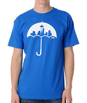 Casual Industrees Umbrella Blue Tee Shirt