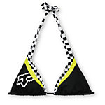 Fox Dirt Vixen Black & White Halter Bikini Top