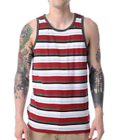 Empyre Bounty Red & Charcoal Stripe Tank Top
