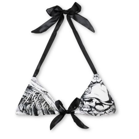 Metal Mulisha Demolition Satin Triangle Bikini Top