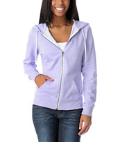 Zine Girls Lavendar Speckle Zip Up Hoodie