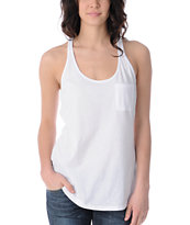 Zine Girls Racerback White Tank Top