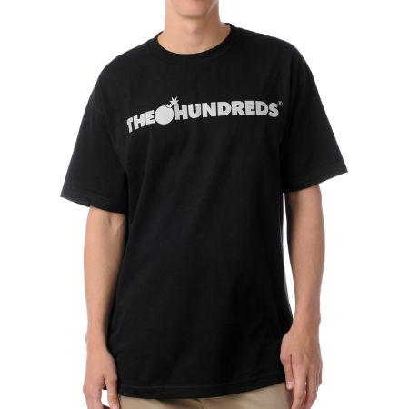 The Hundreds Forever Bar Logo Black Tee Shirt
