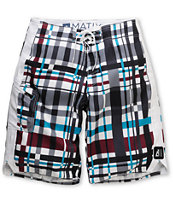 Matix Ringtong 21 White & Maroon Board Shorts
