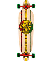 Santa Cruz Rasta Drop Through Cruzer 9 Cruiser Skateboard