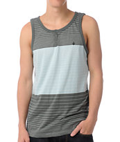 Volcom Transponder Light Blue & Green Tank Top