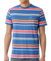 RVCA Benny Striped Tee Shirt