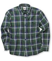 Volcom Boys Rex Green Woven Shirt