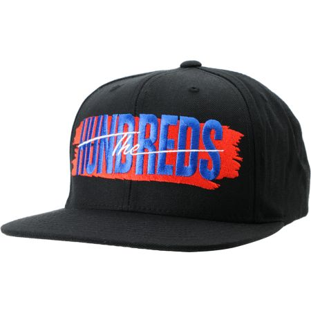 The Hundreds Hailmary Black Snapback Hat