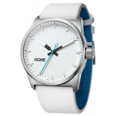 Home C-Class Arctic White & Cyan Swiss Analog Watch