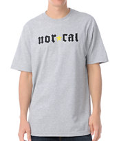 Nor Cal Medieval Heather Grey Tee Shirt