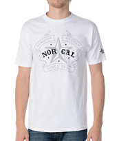 Nor Cal Crest White Tee Shirt